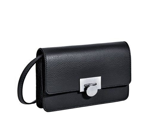 Элегантная сумочка-клатч BRIALDI Paola (Паола) relief black