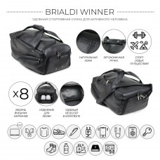 Дорожно-спортивная сумка BRIALDI Winner (Виннер) relief black
