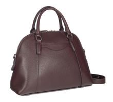 Женская деловая сумка среднего размера BRIALDI Ambra (Амбра) relief burgundy