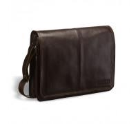 Кожаная сумка через плечо BRIALDI Ancona (Анкона) brown в магазине Galantmaster.ru фото