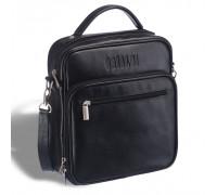 Кожаная сумка через плечо BRIALDI Aledo (Аледо) black в магазине Galantmaster.ru фото
