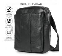 Кожаная сумка через плечо BRIALDI Dakar (Дакар) relief black в магазине Galantmaster.ru фото