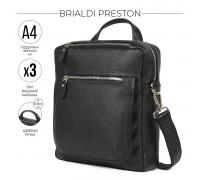 Кожаная сумка через плечо BRIALDI Preston (Престон) relief black BR33394JN