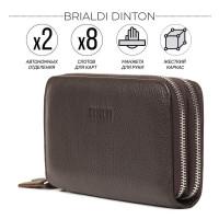 Мужской клатч с 2-мя автономными отделениями BRIALDI Dinton (Динтон) relief brown
