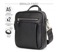 Кожаная сумка через плечо BRIALDI Faro (Фару) relief black BR33396OM