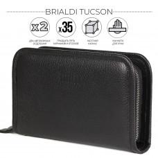 Вместительный мужской клатч BRIALDI Tucson (Тусон) relief black