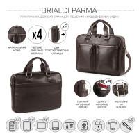 Деловая сумка для документов BRIALDI Parma (Парма) relief brown