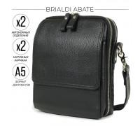 Кожаная сумка через плечо BRIALDI Abate (Абате) relief black в магазине Galantmaster.ru фото