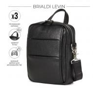 Кожаная сумка через плечо BRIALDI Levin (Левин) relief black в магазине Galantmaster.ru фото