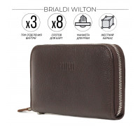 Мужской клатч BRIALDI Wilton (Уилтон) relief brown