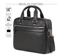 Деловая сумка BRIALDI Oxford (Оксфорд) relief black в магазине Galantmaster.ru фото