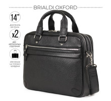 Деловая сумка BRIALDI Oxford (Оксфорд) relief black