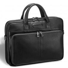 Удобная деловая сумка для документов BRIALDI Pasteur (Пастер) relief black в магазине Galantmaster.ru фото