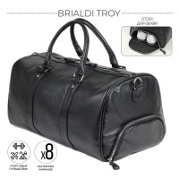 Дорожно-спортивная сумка BRIALDI Troy (Троя) relief black