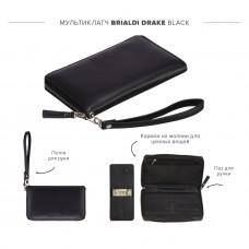 Мультиклатч 2-В-1 BRIALDI Drake (Дрейк) black в магазине Galantmaster.ru фото