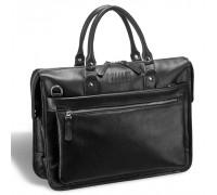 Деловая сумка для документов BRIALDI Pascal (Паскаль) relief black BR12042KY