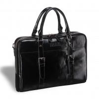 Деловая сумка для документов BRIALDI Darwin (Дарвин) shiny black