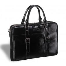 Деловая сумка для документов BRIALDI Darwin (Дарвин) shiny black в магазине Galantmaster.ru фото