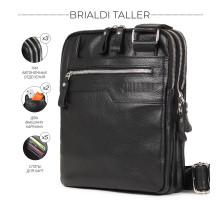 Вертикальная сумка через плечо BRIALDI Taller (Таллер) relief black