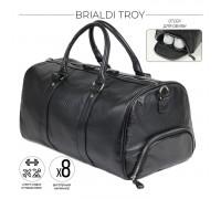 Дорожно-спортивная сумка BRIALDI Troy (Троя) relief black в магазине Galantmaster.ru фото