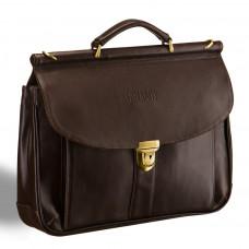 Классический портфель BRIALDI Bergamo (Бергамо) brown в магазине Galantmaster.ru фото