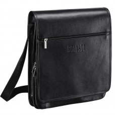 Кожаная сумка через плечо BRIALDI Dallas (Даллас) black в магазине Galantmaster.ru фото