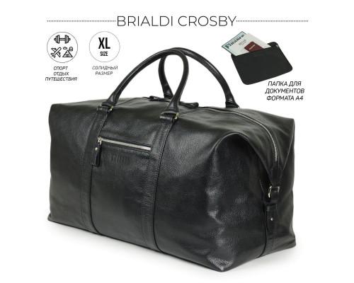 Дорожно-спортивная сумка BRIALDI Crosby (Кросби) relief black