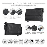 Мужской кожаный клатч BRIALDI Ventura (Вентура) relief black