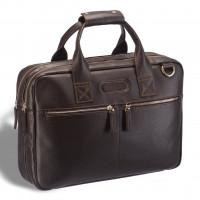Удобная деловая сумка для документов BRIALDI Glendale (Глендейл) relief brown