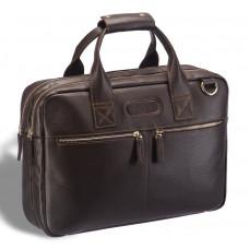 Удобная деловая сумка для документов BRIALDI Glendale (Глендейл) relief brown в магазине Galantmaster.ru фото