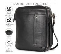 Оригинальная сумка через плечо BRIALDI Grand Montone (Монтоне) relief black в магазине Galantmaster.ru фото