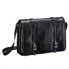 Кожаная сумка через плечо BRIALDI Turin (Турин) black в магазине Galantmaster.ru фото