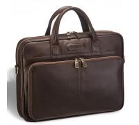 Удобная деловая сумка для документов BRIALDI Pasteur (Пастер) relief brown BR12052FI