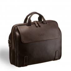 Деловая сумка для города BRIALDI Seattle (Сиэтл) brown в магазине Galantmaster.ru фото
