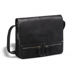 Кожаная сумка через плечо BRIALDI Vallejo (Валледжо) black в магазине Galantmaster.ru фото