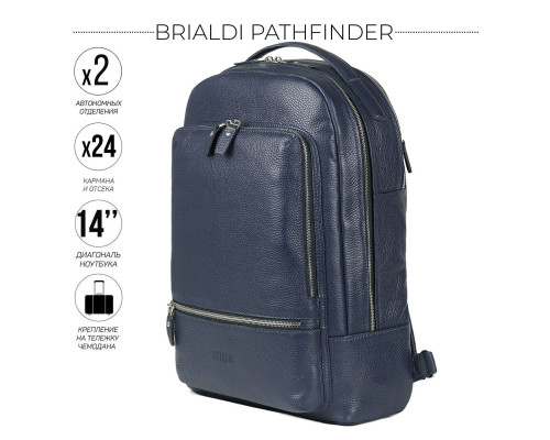 Мужской рюкзак BRIALDI Pathfinder (Следопыт) relief navy
