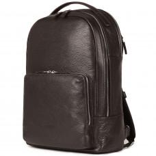 Мужской рюкзак с 2 отделениями BRIALDI Daily (Дейли) relief brown в магазине Galantmaster.ru фото