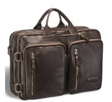 Мужская сумка-трансформер BRIALDI Norman (Норман) relief brown