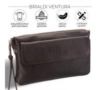 Мужской кожаный клатч BRIALDI Ventura (Вентура) relief brown