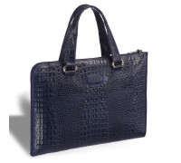 Женская деловая сумка BRIALDI Aisa (Аиса) croco navy в магазине Galantmaster.ru фото