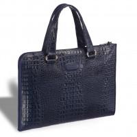 Женская деловая сумка BRIALDI Aisa (Аиса) croco navy