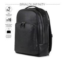 Мужской рюкзак с 2 автономными отделениями BRIALDI Infinity (Инфинити) relief black