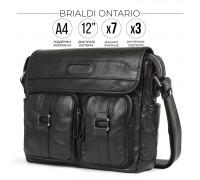 Сумка через плечо BRIALDI Ontario (Онтарио) relief black