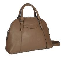Женская деловая сумка среднего размера BRIALDI Ambra (Амбра) relief brown