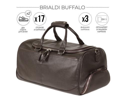 Дорожно-спортивная сумка BRIALDI Buffalo (Буффало) relief brown