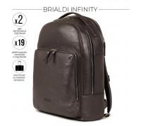 Мужской рюкзак с 2 автономными отделениями BRIALDI Infinity (Инфинити) relief brown