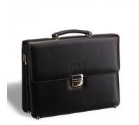 Стильный портфель классической формы BRIALDI Fleming (Флеминг) black BR09542KS