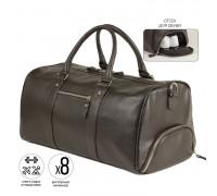 Дорожно-спортивная сумка BRIALDI Troy (Троя) relief brown BR30927GT