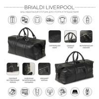 Дорожно-спортивная сумка BRIALDI Liverpool (Ливерпуль) relief black