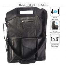 Сумка-трансформер 4-в-1 BRIALDI Vulcano (Вулькано) relief black